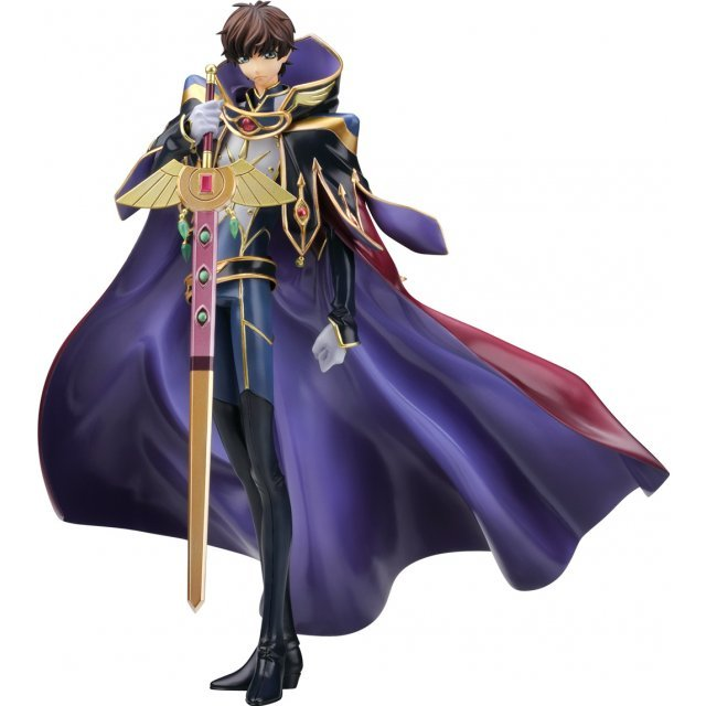 Code Geass - Hangyaku no Lelouch R2 1/8 Scale Pre-Painted Figure: Kururugi Suzaku Knight of Zero (Re-run)