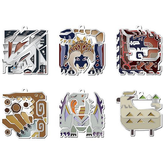 Monster Hunter XX  Monster Icon Stained Mascot Collection (Set of 10 pieces)