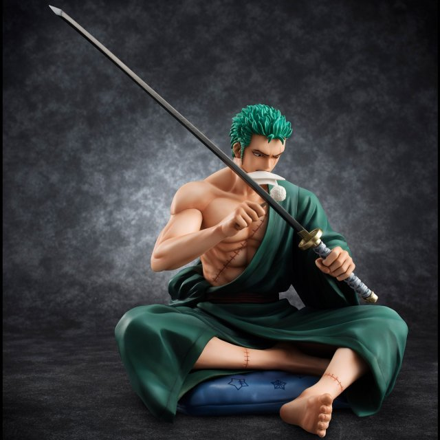 One Piece Excellent Model Portrait of Pirates SOC 1/8 Scale Pre-Painted Figure: Roronoa Zoro
