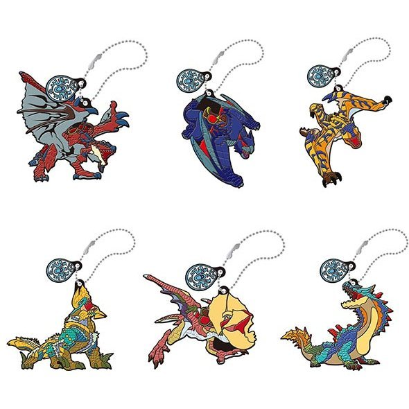 Monster Hunter Stories Ride On Rubber Mascot: Otomon (Set of 6 pieces)