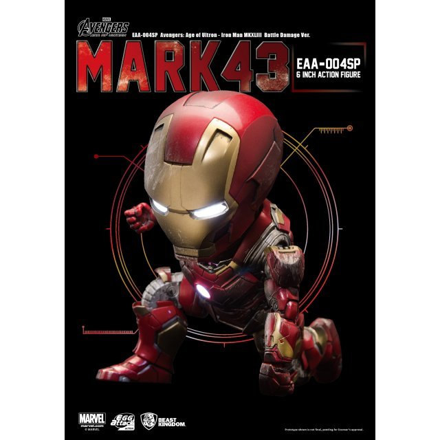 Egg Attack Action Avengers Age of Ultron: Iron Man Mark 43 Battle Damage Edition