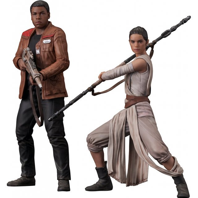 ARTFX+ Star Wars 1/10 Scale Pre-Painted Figure: Rey & Finn 2 Pack The Force Awakens Ver.