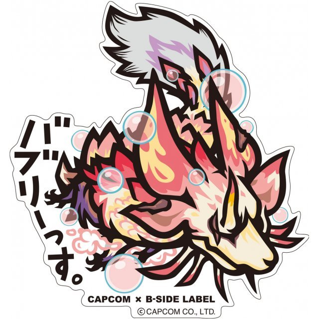 CAPCOM x B-SIDE Label Monster Hunter XX Sticker: Bubblyssu