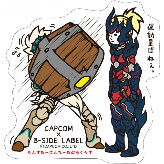 CAPCOM x B-SIDE Label Monster Hunter XX Sticker: Renkin Style