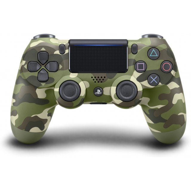 New DualShock 4 CUH-ZCT2 Series (Green Camouflage)