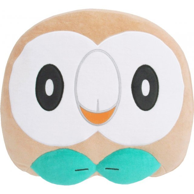 Pocket Monsters Mochifuwa Cushion: Rowlet (Face)