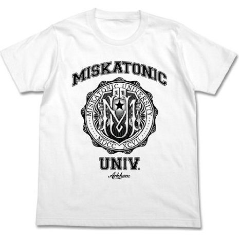 Miskatonic University T-shirt White (L Size) [Re-run]
