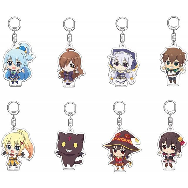Kono Subarashii Sekai ni Shukufuku wo! 2 Fortune Acrylic Key Ring Hug Love Ver. (Set of 8 pieces)