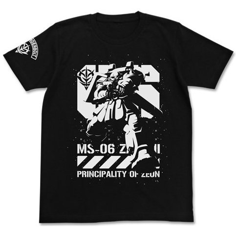 Mobile Suit Gundam Thunderbolt - Thunderbolt Ver. Zaku T-shirt Black (M Size) [Re-run]