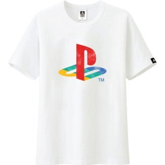 PlayStation Classic Logo T-Shirt White (XL Size)