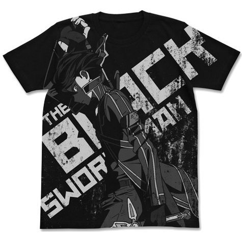 Theatrical Feature Sword Art Online - Ordinal Scale - Black Swordsman Kirito T-shirt Black (M Size)