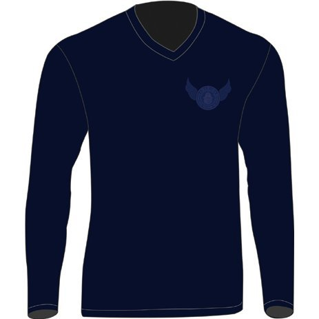 Biohazard: Vendetta Leon Long Sleeve T-shirt Navy (M Size)