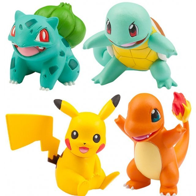 Pokemon Monster Collection EX 20th Anniversary: Tabidachi no 3biki + Pikachu Vol. 1 Kanto Ver.