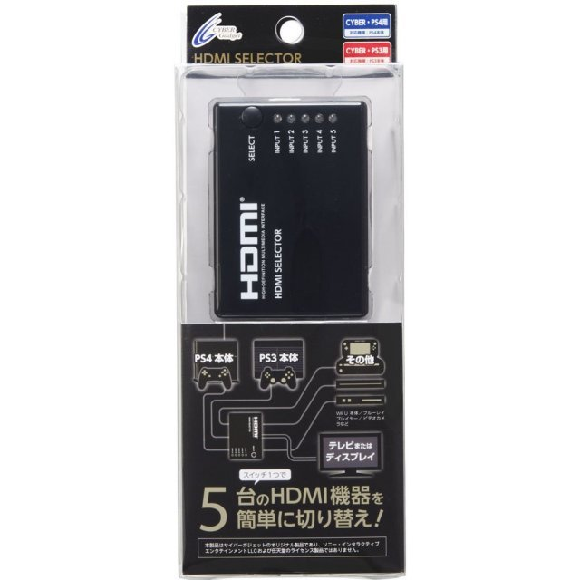 HDMI Selector 5 in 1 for Playstation 4