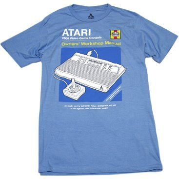 Atari Haynes Manual T-shirt Blue (M Size)