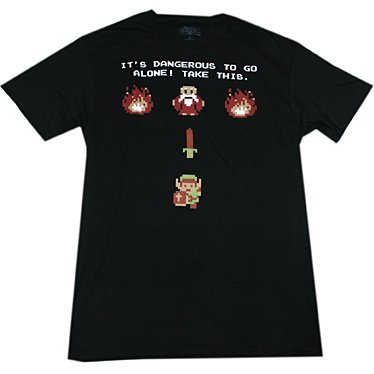 The Legend of Zelda Take This T-shirt Black (L Size)
