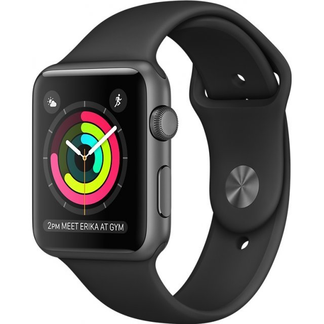 Apple Watch Series 2 38mm with Black Sport Band (Space Gray)