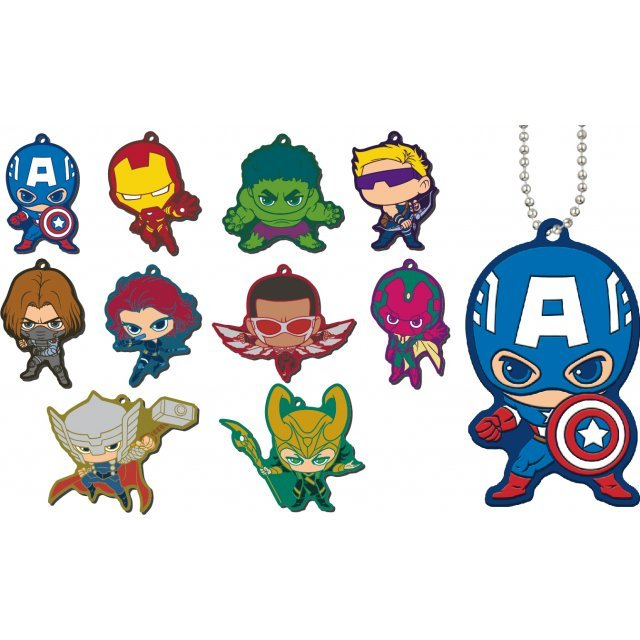MARVEL The Avengers Chara Rubber Mascot (Set of 10 pieces)