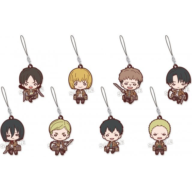 Nitotan Attack on Titan Rubber Mascot (Set of 8 pieces)