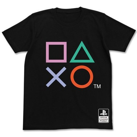 PlayStation Shapes T-shirt Black (S Size) [Re-run]