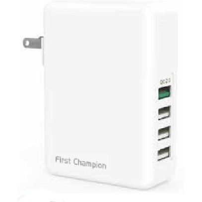 First Champion Universal Travel Chargers with Smart IC, USB QC 2.0 (8A)