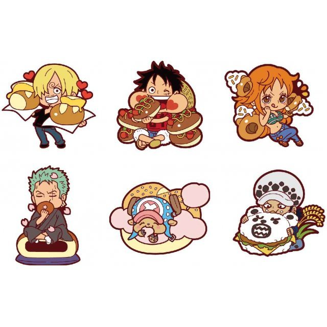 Rubber Mascot Mogumogu One Piece: Sanji's Kitchen -Brunch- (Set of 6 pieces)