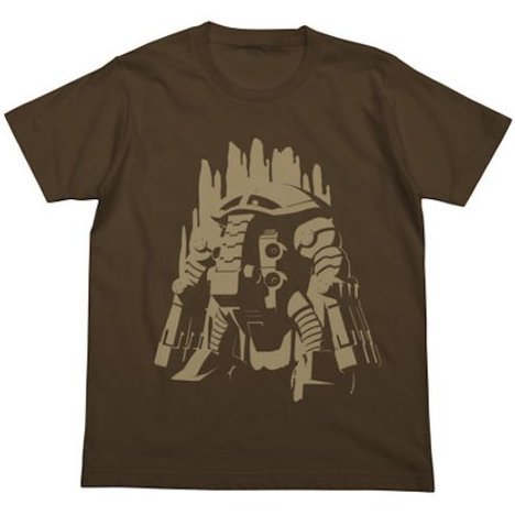 Mobile Suit Gundam Unicorn Juagg T-shirt Dark Brown (M Size)