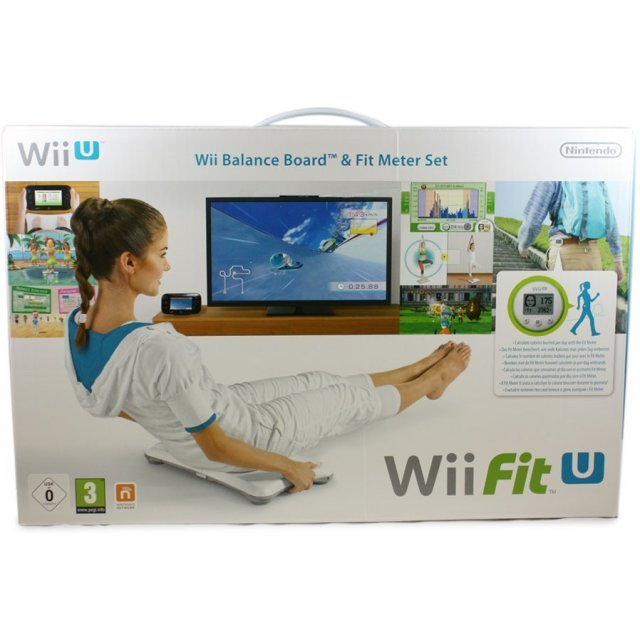 Wii Fit U & Balance Board (White) & Fit Meter (Green)