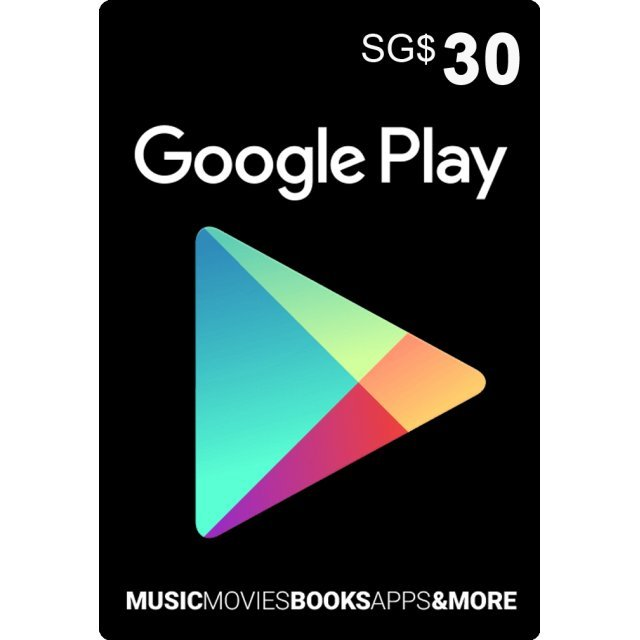 Google Play Card (SGD30 / for Singapore accounts only) digital