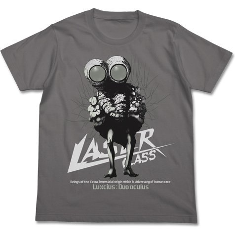 Schwarzesmarken Laser Class Luxcius:Duo Oculus Phosphorescent T-shirt Medium Gray (XL Size)