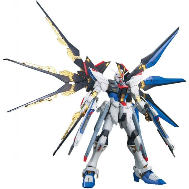 Mobile Suit Gundam 1/100 Scale Model Kit: ZGMF-X20A Strike Freedom Gundam Full Burst Mode (MG)
