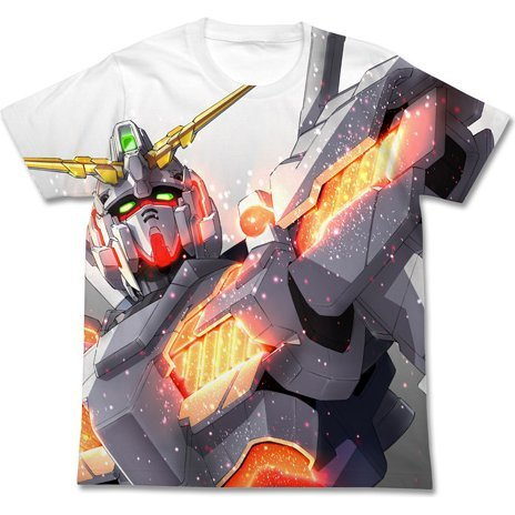 Mobile Suit Gundam Unicorn Full Graphic T-shirt White (L Size)