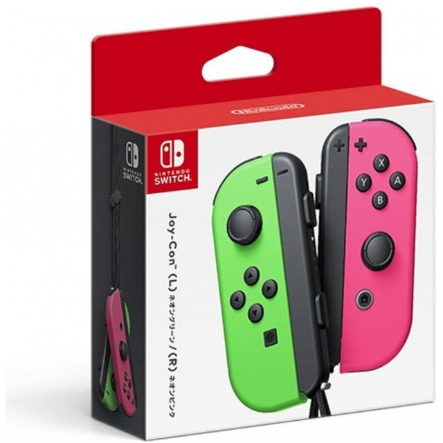 Nintendo Switch Joy-Con Controllers (Neon Green / Neon Pink)