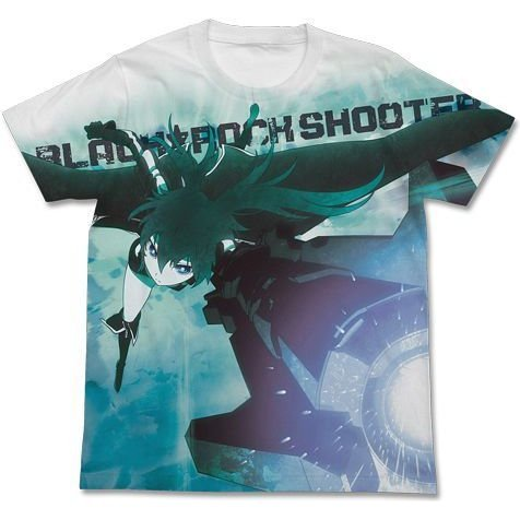 Black Rock Shooter Brs Full Graphic T-shirt White (L Size)