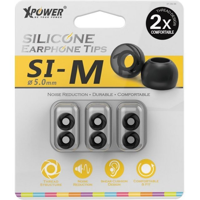 Xpower Silicone Earphone Tips (Medium)