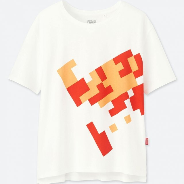 Super Mario Fire Flower Utgp Nintendo Women's T-shirt (S Size)