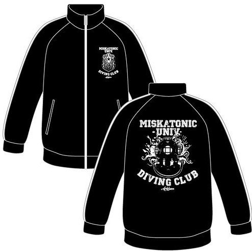 Miskatonic University Diving Club Jersey Jacket Black x White (M Size)