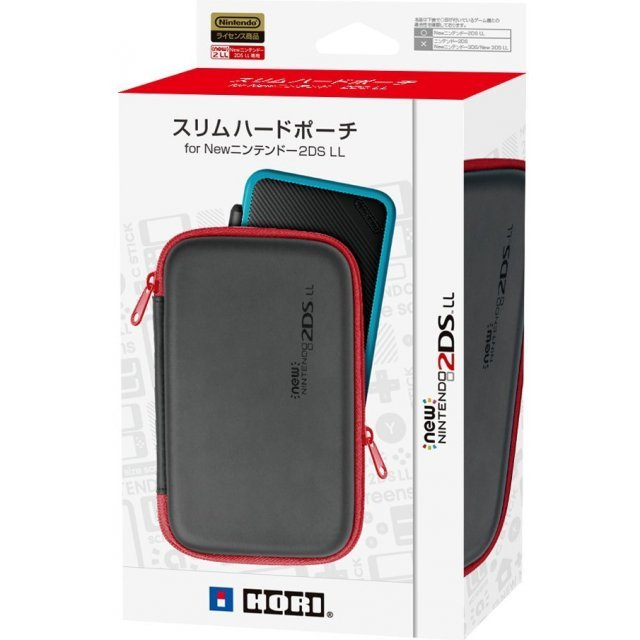 Slim Hard Pouch for New 2DS LL (Black x Red)