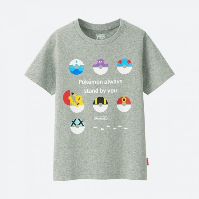 Pokemon Pokeballs Utgp Nintendo Kid's T-shirt (120 Size)