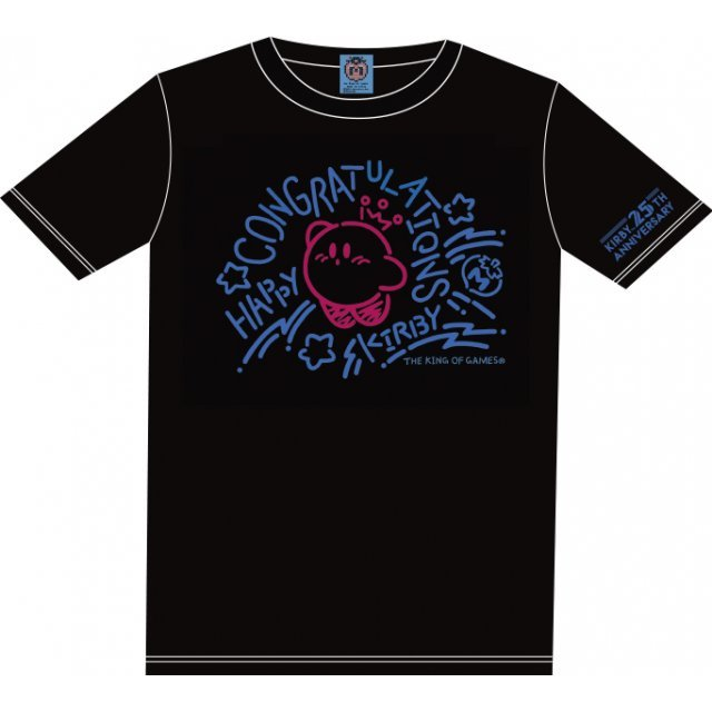 Kirbys Dream Land Congratulations T-shirt Black With Mascot [Limited Edition] (XL Size)