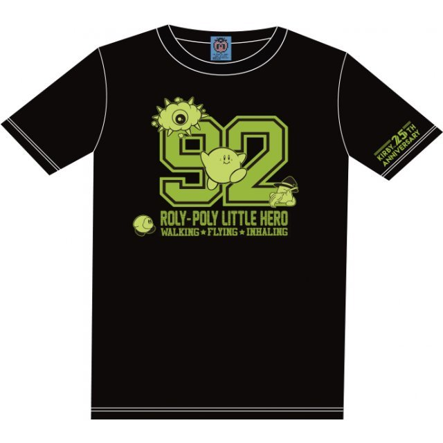 Kirbys Dream Land Numbering T-shirt Black With Mascot [Limited Edition] (XL Size)