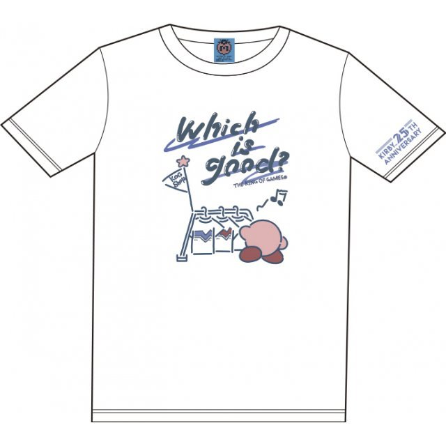 Kirbys Dream Land Which Is Good? T-shirt White With Mascot [Limited Edition] (XL Size)