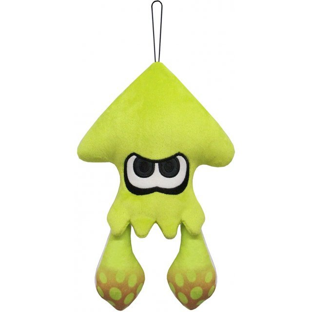 Splatoon 2 All Star Collection Plush: Squid Neon Yellow (S)