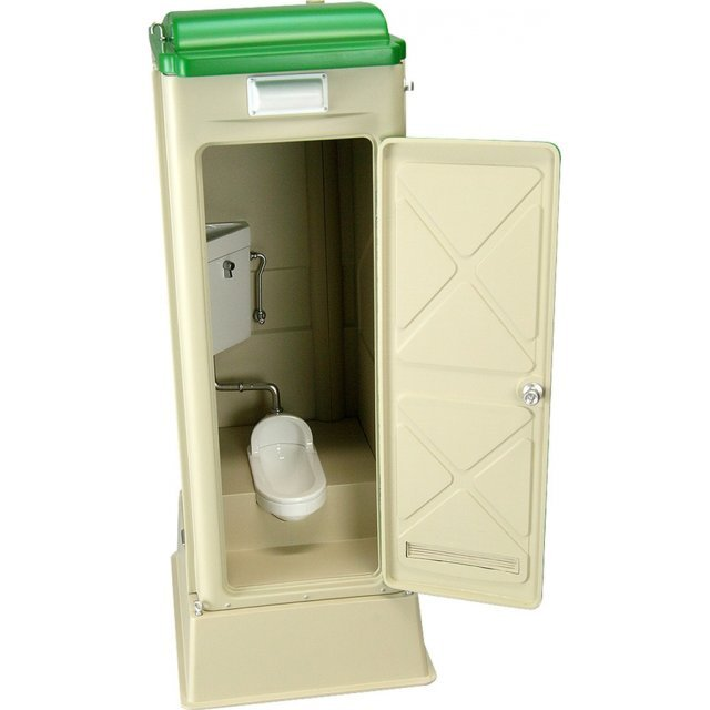 Mabell Original Miniature Model Series 1/12 Scale Pre-Painted Figure: Portable Toilet TU-R1J