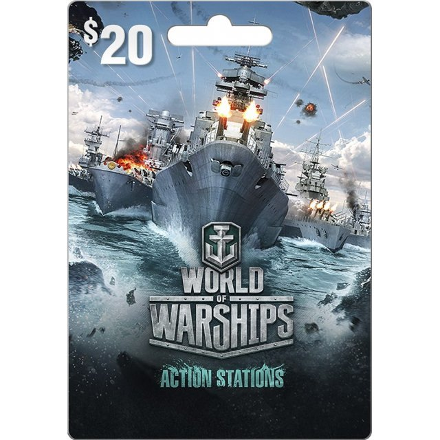 Wargaming World of Warships Gift Card 20 USD digital