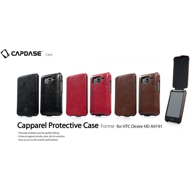 Capdase HTC Desire HD A9191 Capparel Protective Case (Red)