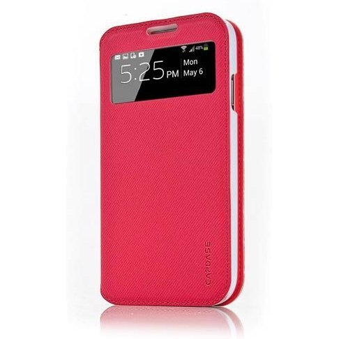 Capdase Folder Case Sider Baco for Galaxy S4 GT-i9500 / GT-i9505 (Red / White)