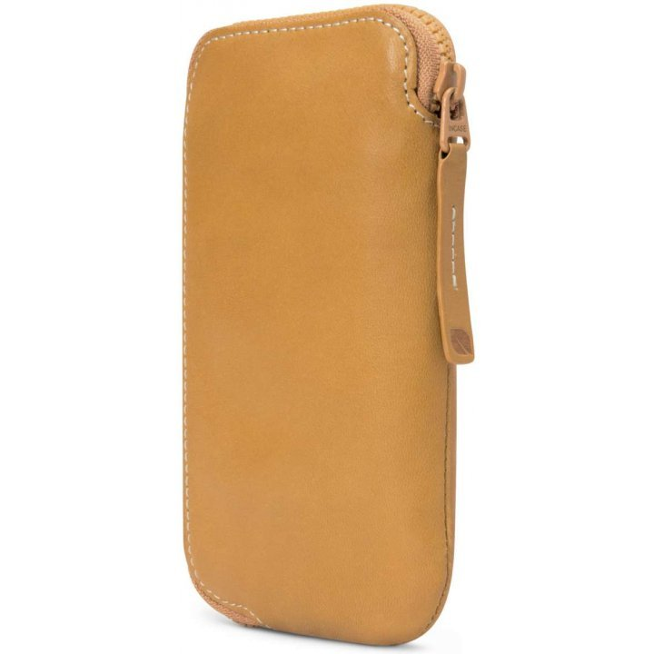 Incase Leather Zip Wallet (Brown/Tan)