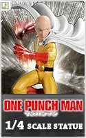 One Punch Man 1/4 Scale Statue: Saitama