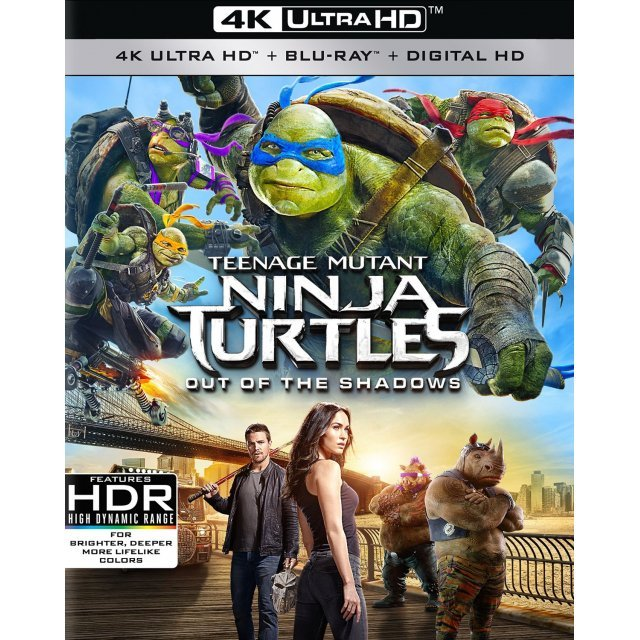 Teenage Mutant Ninja Turtles Out Of The Shadows 4k Uhd Blu Ray